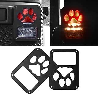 American 4wheel Jeep Wrangler Taillights Covers Tail Light Guard Rear Light Cover Black Dog Paw Jeep Wrangler Accessories JK JKU & Unlimited Rubicon Sahara Sports,2007-2018 - Matte Black(2 Pcs)