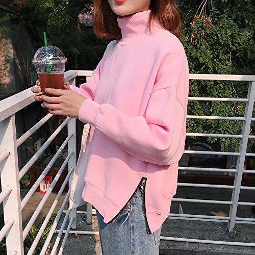 Malilove Un Pequeño Estudiante Femenina Blusa Con El Grueso Jersey De Cachemir Suéter Párrafo Rosa