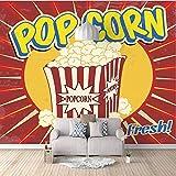 gigante carta da parati Popcorn Foto murali Soggiorno Camera...