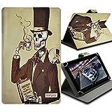 Seluxion-Funda universal con tapa y soporte, diseño de esqueleto ZenPad S para tablet Asus Fonepad 8,0 8 FE380CG Z580C