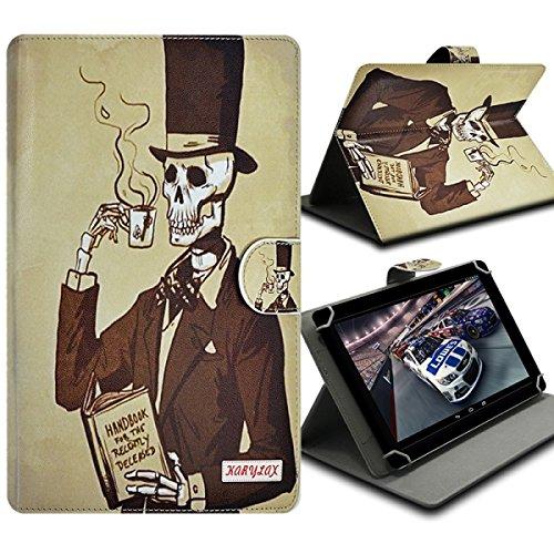 Seluxion-Funda universal con tapa y soporte, diseño de esqueleto para tablet Lenovo Tab 2 ha 8-50, S8, Tab 2 y Yoga Tab 3 8,0