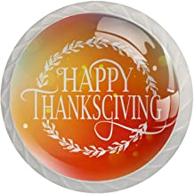 Lade knop Pull handvat 4 stuks Crystal Glass Cabinet lade trekt kast knoppen, Happy Thanksgiving