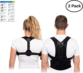 Back Brace Posture Corrector Set for Women and Men – Ideal for Lower Back Pain Relief - Alleviates Upper Back and Shoulder Pain - Ideal as Kyphosis Brace – Scoliosis Corrector