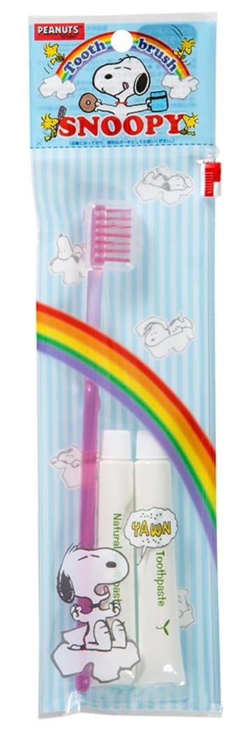 概念ジョガーホットファイン 歯ブラシセット カラフルスヌーピー ピンク