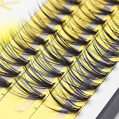 JINSUO DXXLD 60 Bundles Mink Eyelash Extension Natural 3D Russian Volume Faux Eyelashes Individual 20D Cluster Lashes Makeup Cilia #0.07mm (Color : D, Length : 11mm)