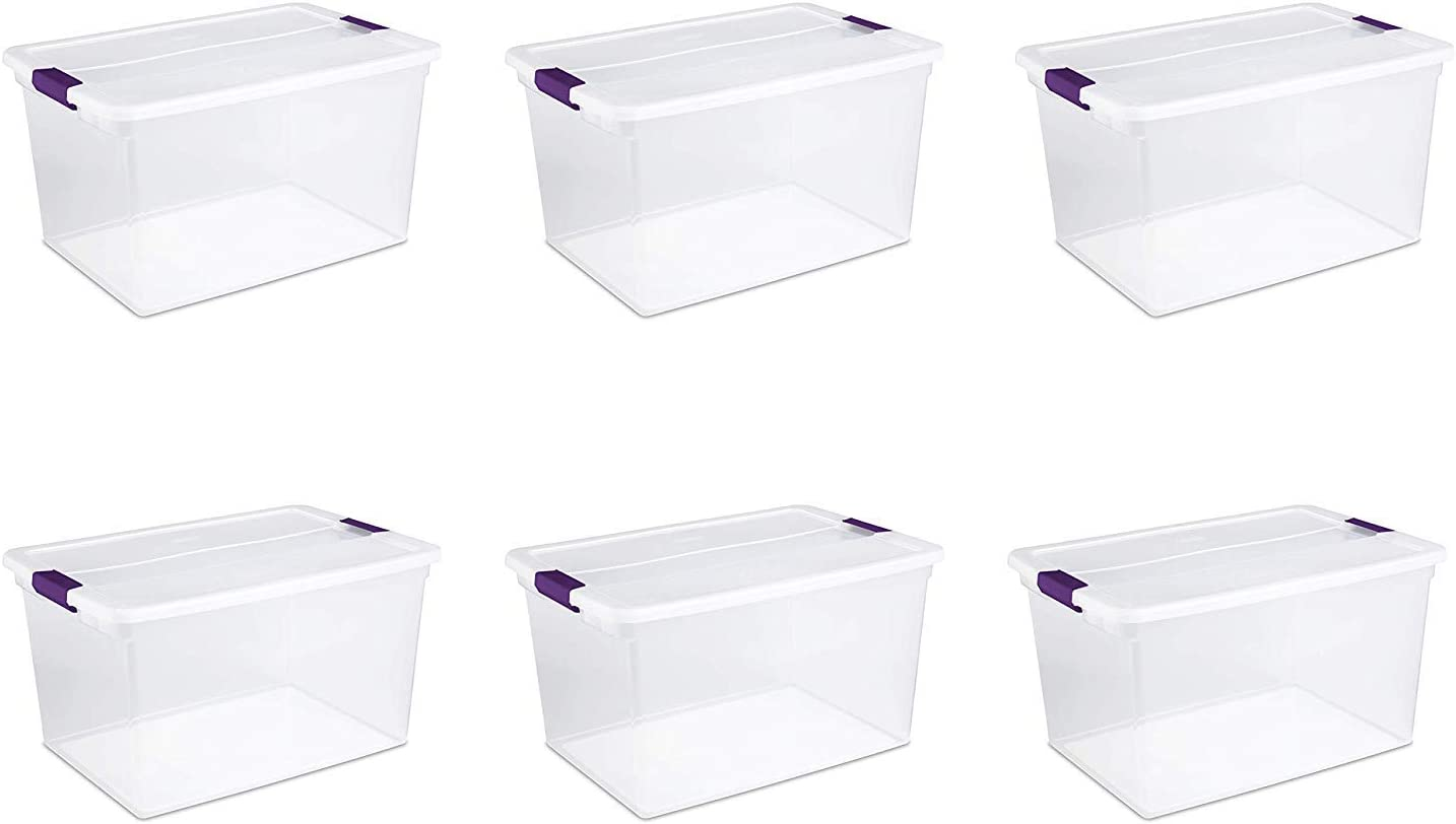 Sterilite 66-Quart ClearView Latch Storage Pack 6 online shop Topics on TV of Container