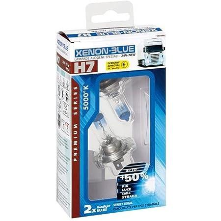 Lkw Truck Glühbirne Glühlampe Birne Lampe 24v H7 Xenon Blue E1 Prüfzeichen 5000k Auto