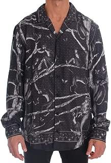 Gray Monkey Print Pajama Shirt