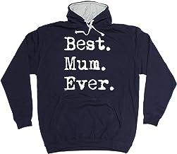 123t Funny Hoodie - Best Mum Ever - Hoody Jumper