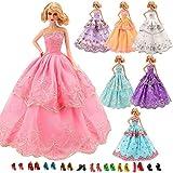 Miunana 6X Novia Vestidos de Fiesta Ropa Princesa Boda Vestir de la Manera Mezclar Estilos y Colores para 30 CM Muñeca