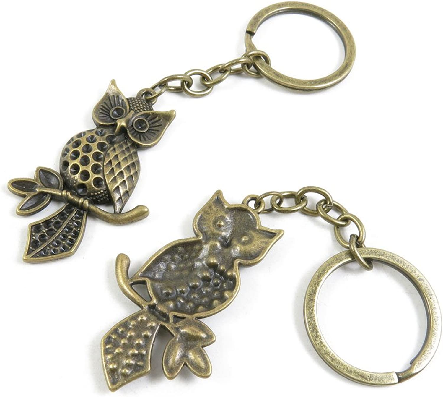 90 Pieces Fashion Jewelry Keyring Keychain Door Car Key Tag Ring Chain Supplier Supply Wholesale Bulk Lots Z5HJ4 Owl
