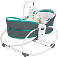 Multifunctional Electric Crib Travel Cots withal Shock Music Box Rocking Chair Basket Folding Portable (Color : A)