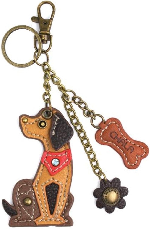 Chala Puppy Dog Key Chain Purse Leather Bag Fob Charm New