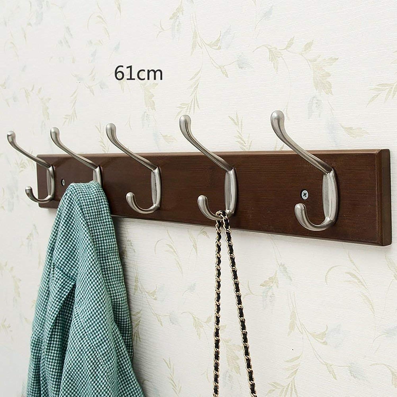 GJD Wall Hanging Wall Creative Coat Hook Home Living Room Door Hanger Wall Hanging Hook Solid Wood (color   Brown, Size   Style 3)