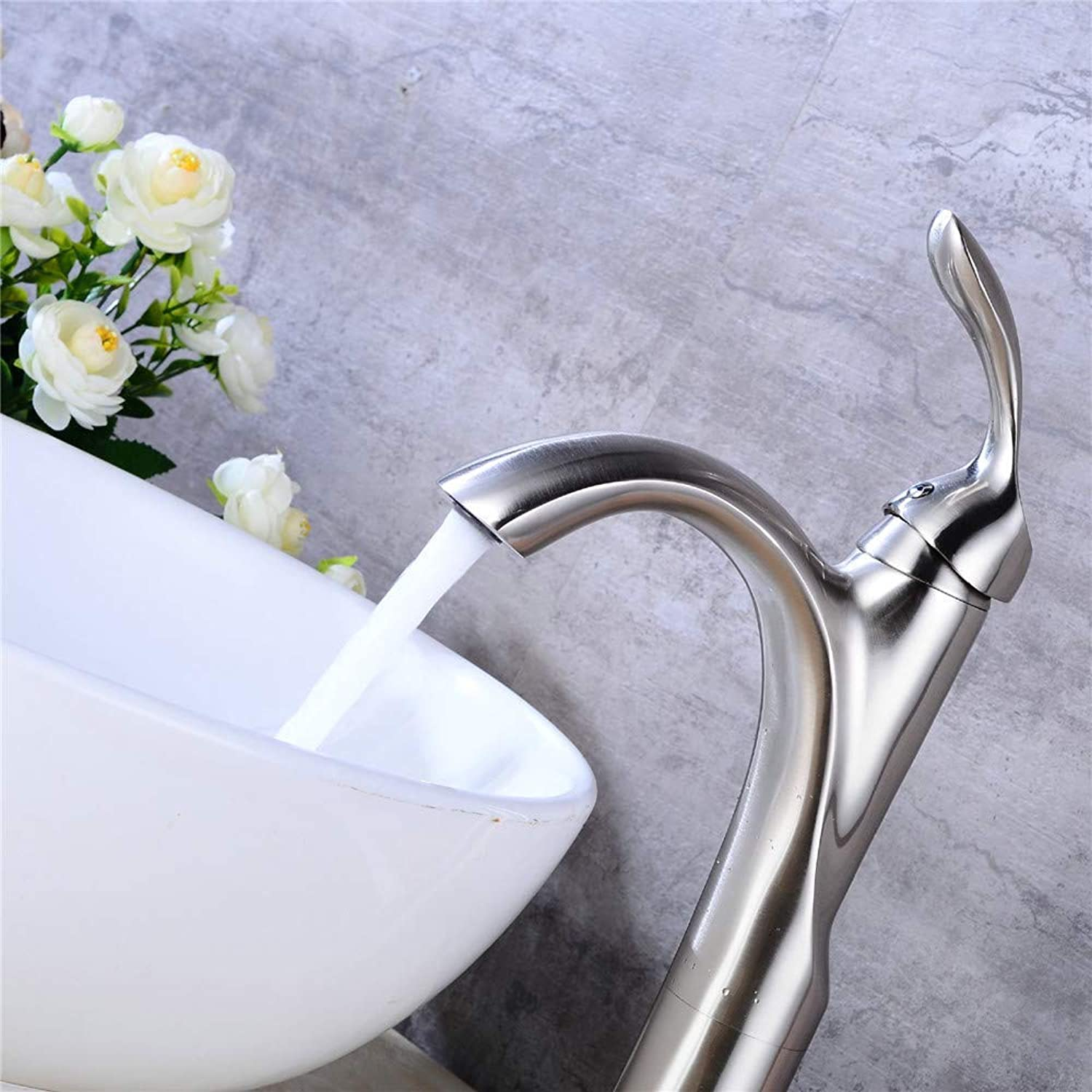 Oudan All Copper Orb Toilet Basin Faucet Hot and Cold Water Faucet Cold Brown Retro Toilet Basin Faucet Stage (color   -, Size   -)