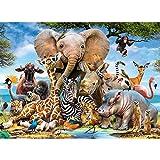 Puzzle de 1000 Piezas Mundo Animal, piezas de rompecabezas de 1 mm de grosor que encajan perfectamente, rompecabezas educativos para el piso, regalos de entretenimiento familiar(70 x 50 cm)