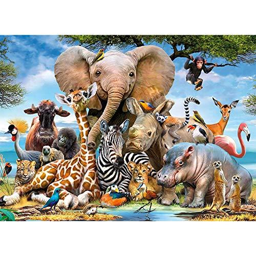 Aiboria Puzzle 1000 pièces Puzzle coloré et amusant pour enfants et adultes Idée de cadeau d'anniversaire pour les amis et la famille