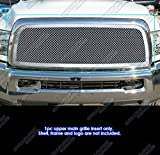 APS Compatible with 2013-2018 Ram 2500 3500 Main Upper Stainless Steel Chrome Mesh Rivet Studs Grille Insert DL6330S