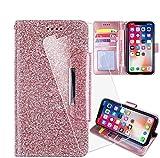 HYMY Hülle für WIKO View4 Lite + Schutzfolie - Pink Einfach Stil PU Leder Lederhülle Flip mit Brieftasche Geldbörse Card Slot Handyhülle Cover