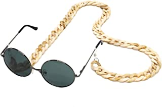 for Women Men Sungl Acrylic Marvel Chain - Eyewear Retainer - Gl Strap Holder Strap (Marble Ivory)