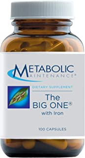 Metabolic Maintenance The Big One with Iron - Once Daily Multivitamin Mineral Supplement - Folate, B Vitamins, Biotin, Ant...