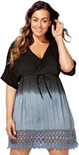 Swimsuits for All Womens Plus Size Strapless Dress Swimsuit Cover Up