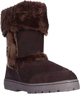 Style & Co. Womens Witty Almond Toe Ankle Cold Weather Boots, DRK BRWN, Size 7.0