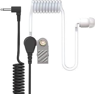 Ohrhörer Schallschlauch   2,5mm Klinke   One Ear   transparent inkl. Halteclip   Kopfhörer Headset für Funkgeräte
