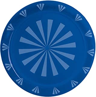 """Party Essentials N121205 Plastic Round Tray, 12"""" Diameter, Royal Blue (Case of 12)"""