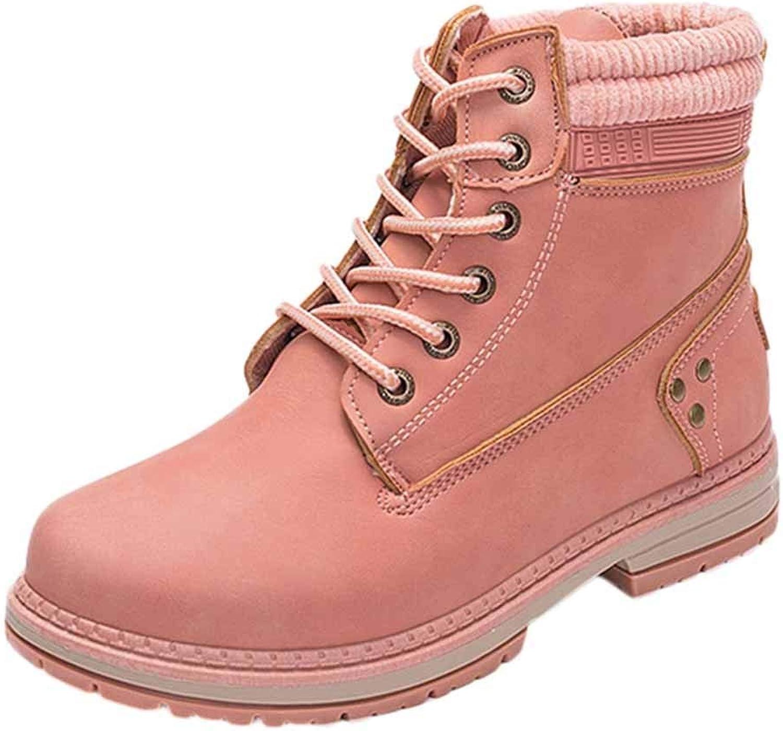 Katokaoo Kvinnor Kvinnor Kvinnor Student Snow stövlar Lace Up Ankle stövlar Round Toe skor  bästa kvalitet