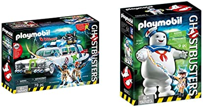 PLAYMOBIL 9220 - Ghostbusters Ecto-1 & 9221 - Stay Puft Marshmallow Man