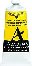 Grumbacher Academy Acrylic Paint, 90ml/3 oz Metal Tube, Cadmium Yellow Medium Hue (C034)