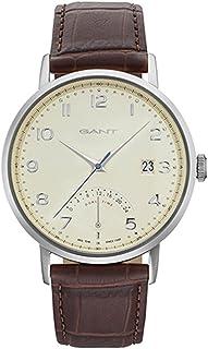 Gant Pennington Men's White Dial Leather Band Watch - G Gww022002, Analog Display