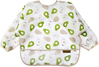 Waterproof Baby Smock With Sleeves-Toddler Soft Bib For 6-24 Months-Wipe Cleaned