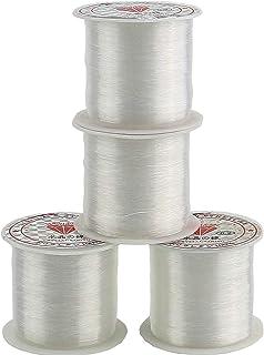 TIHOOD 0.2mm Diameter Clear Nylon Fish Fishing Line Spool Beading String