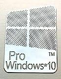 VATH Made Compatible Microsoft Windows 10 Pro Metal Sticker 16 x 23mm [883]