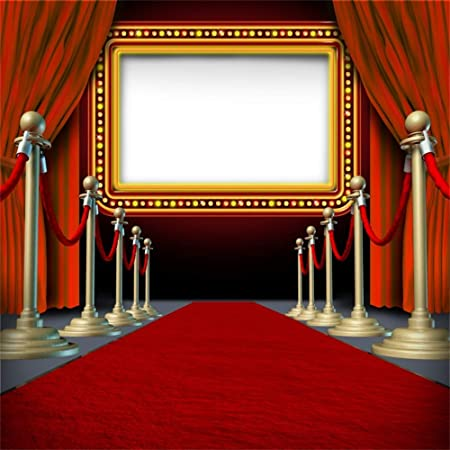 Haoyiyi 3x5ft Hollywood Red Carpet Stage Backdrop Halo Bokeh Glow Spots Shinning Sparkle Background Photography Photo Openning Ceremony Celebrating Concert Drama Music Show Vlogger Decor