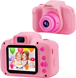 PROGRACE Kids Camera Children Digital Cameras for Girls Birthday Toy Gifts 4-12 Year Old Kid Action Camera Toddler Video R...