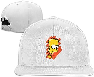 Qmad Mens Photo of Simpsons` Son A Flat-Brim Hat Adjustable Hats