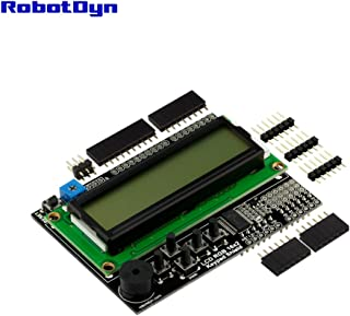 RobotDyn - LCD RGB 16x2 + keypad +Buzzer Shield for Arduino, I2C/IIC Interface, LCD RGB 1602
