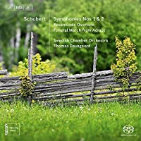 Schubert: Symphonies Nos. 1 & 2 by Swedish Chamber Orchestra