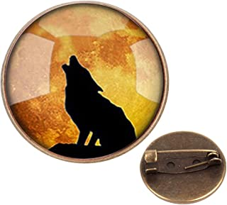 WAZZIT Round Metal Tie Tack Hat Lapel Pin Brooches Dog Lover Dog Paw Banquet Badge Enamel Pins Trendy Accessory Jacket T-Shirt