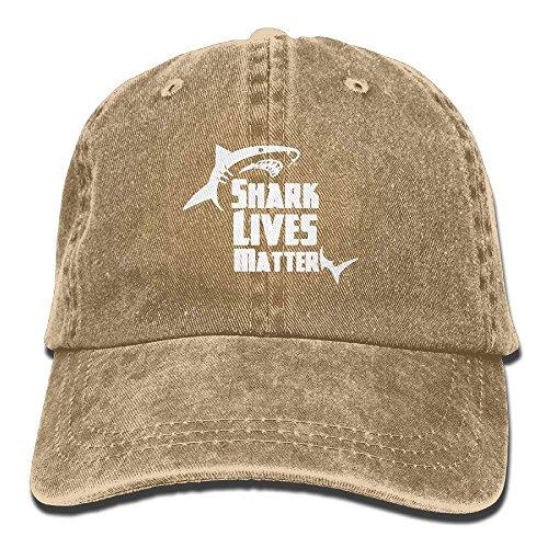 No Lives Matter Shark Unisex Adult Adjustable Retro Dad Hat,Personality Caps Hats Men Women Casual Denim Adjustable Dad Hat Baseball Cap Trucker Hat