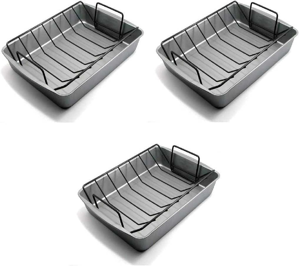 Today's only specialty shop G S Metal Products Company Roasting Pan OvenStuff Nonstick wit