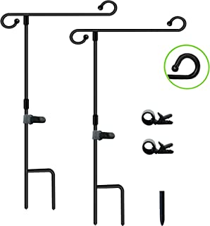 Boutique_Goods Garden Flag Rubber Stoppers Adjustable and Anti-Wind Clips Accessories 12 Pack