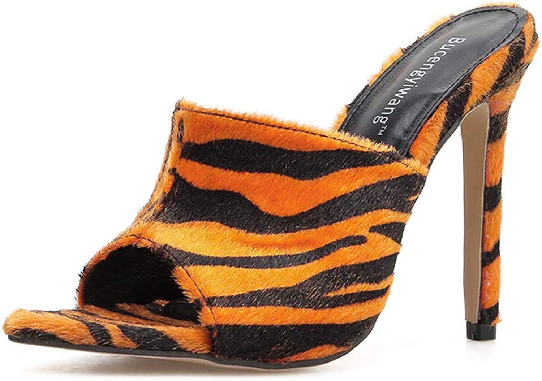 Women Pumps Pointed-Toe Fashion Peep-Toe Sexy High Heels