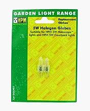 HPM DGLHS1 5W Halogen Globe 5W Halogen Garden Light Globes 2 Pack