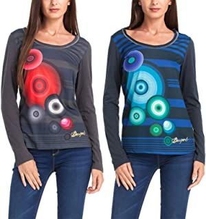 Desigual Women's Woman Long Sleeves Diane T-Shirt