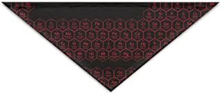 Logic Theory Honeycomb Periodic Table Red Pet Scarf Dog Cat Bandana Collars Triangle Neckerchief