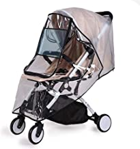 ZTXY Baby Carrier Raincoat Universal Rain Cover Black Border for Pushchair Stroller Buggy Pram Baby Travel Weather Shield